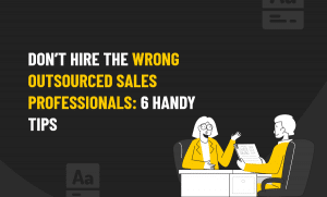 WRONG OUTSOURCED SALES