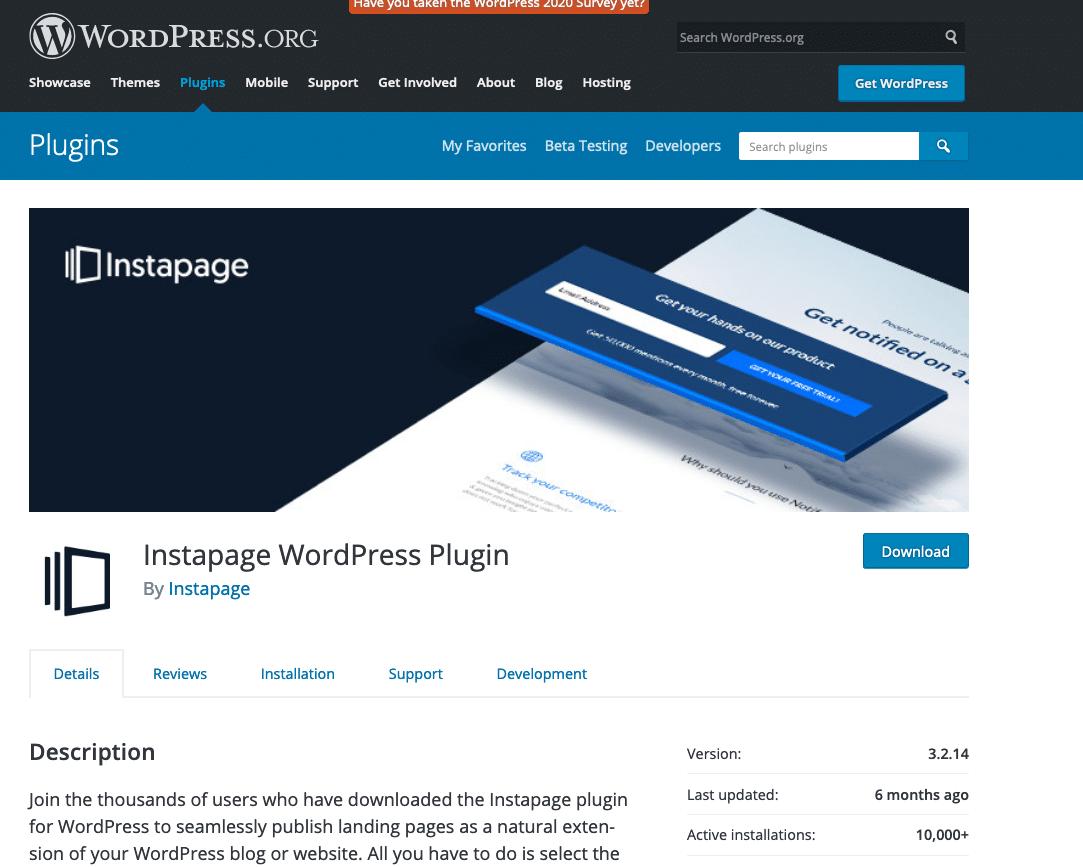 Instapress WordPress plugin