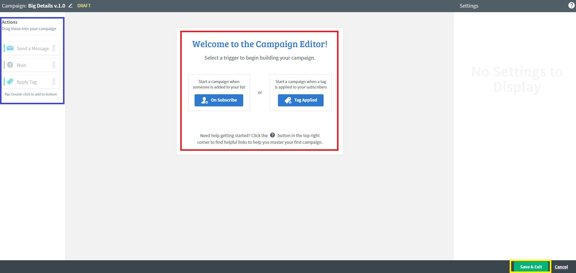 Campaign editor