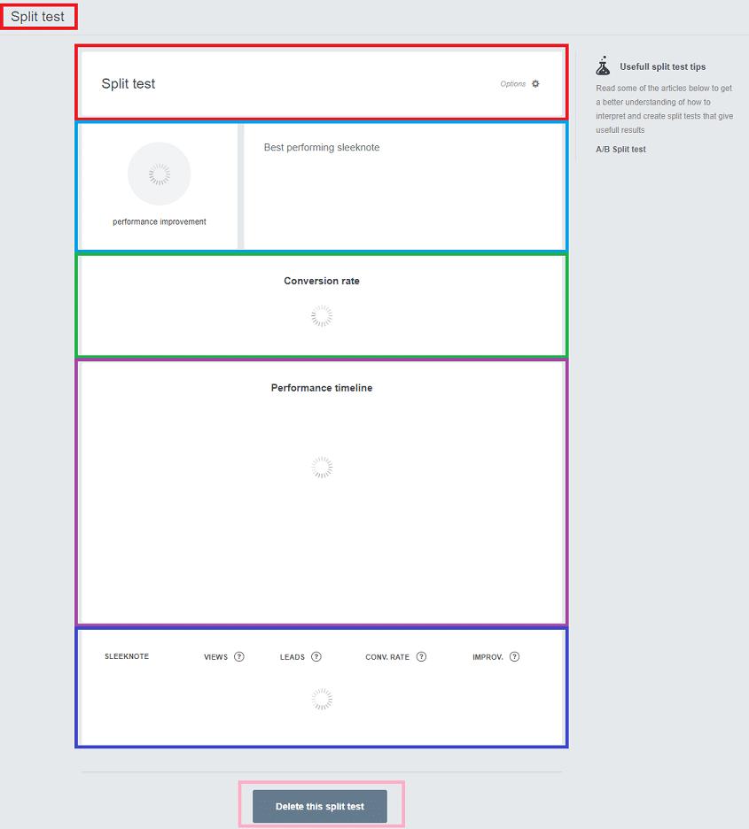 Sleeknote Split test