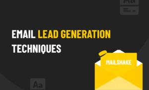 Email lead generation techniques