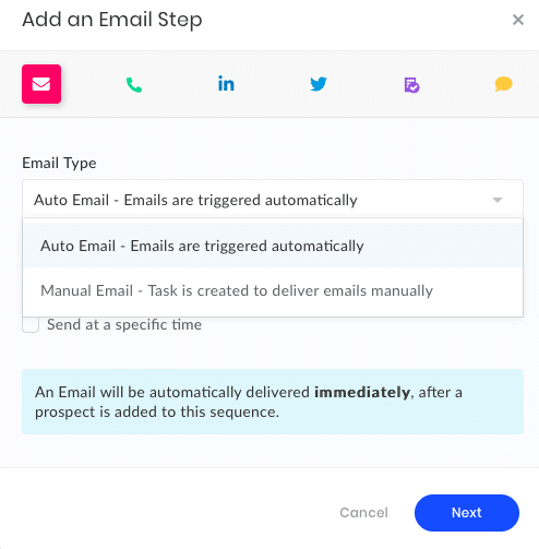 Email Step