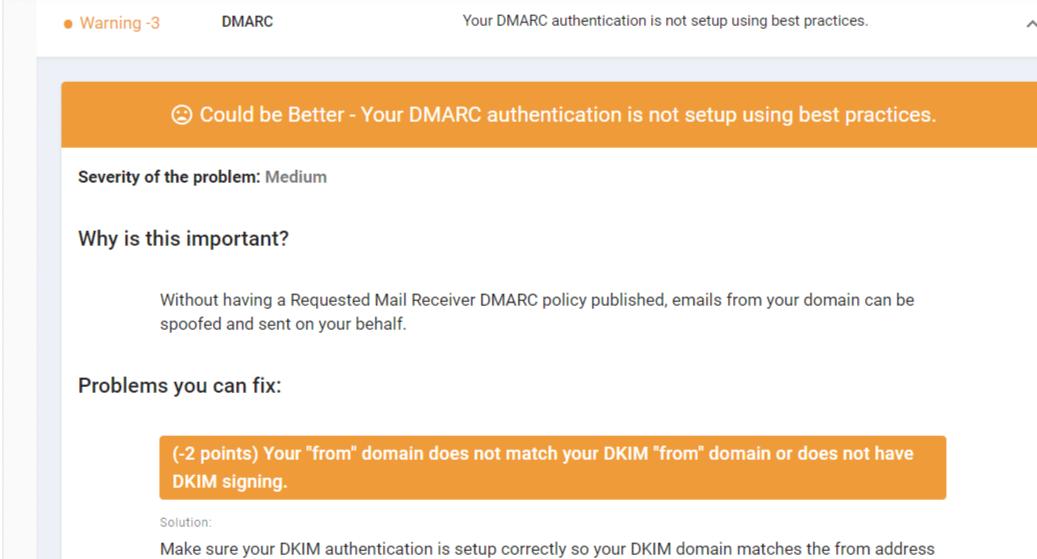 DMARC authentication
