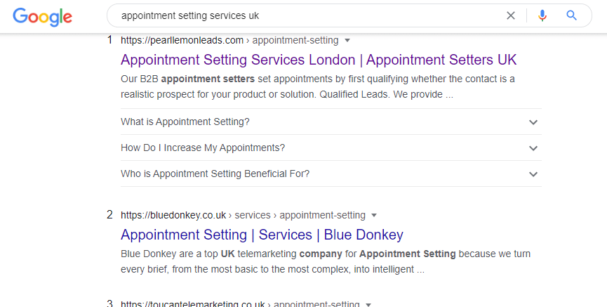 appointment setting services uk