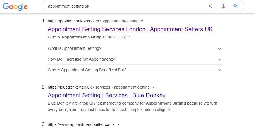 appointment setting uk