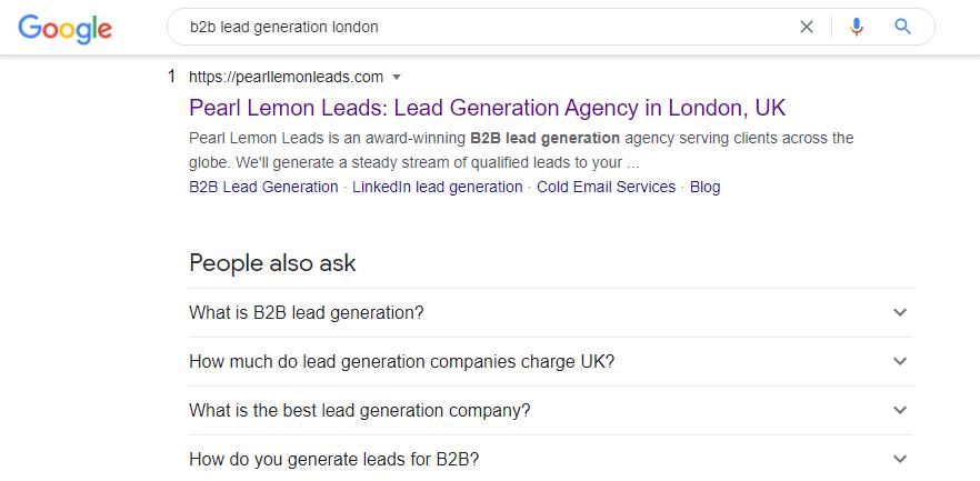b2b lead gen london