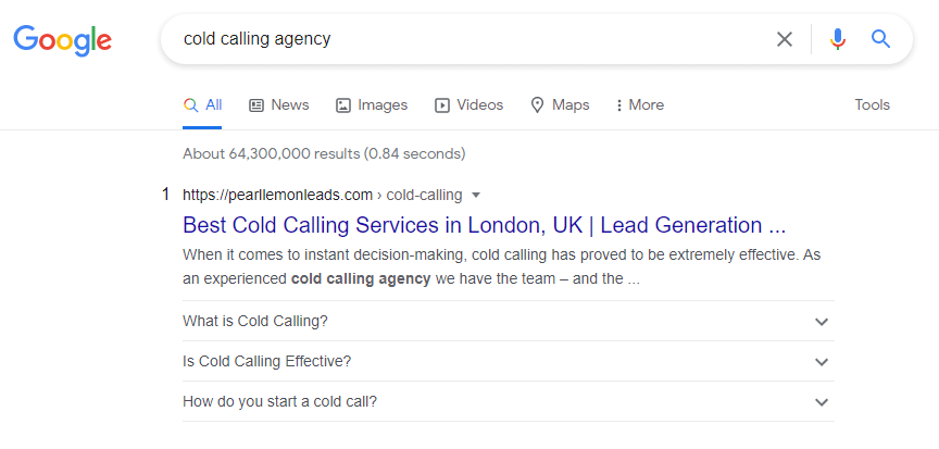 cold calling agency