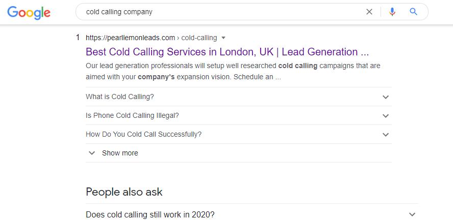 cold calling company