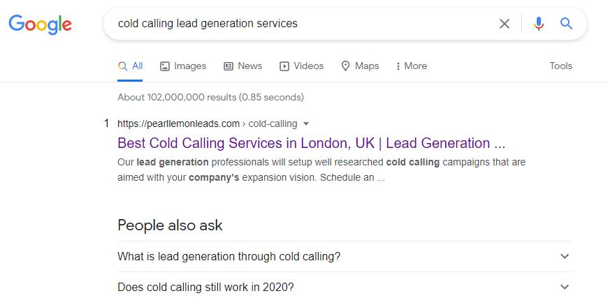 cold calling lead gen services