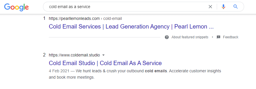 cold email as a service