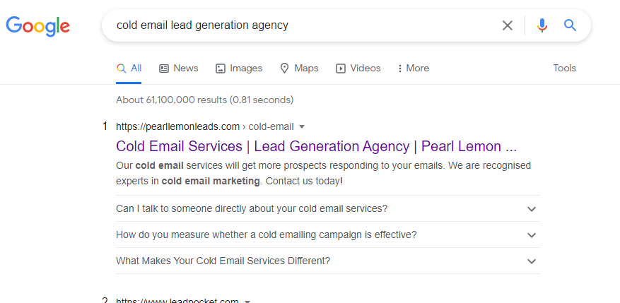 cold email lead gen agency