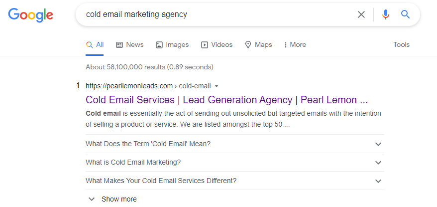 cold email marketing agency