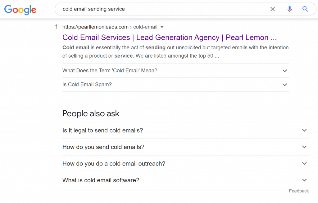 cold email sending service