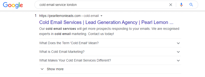 cold email service london