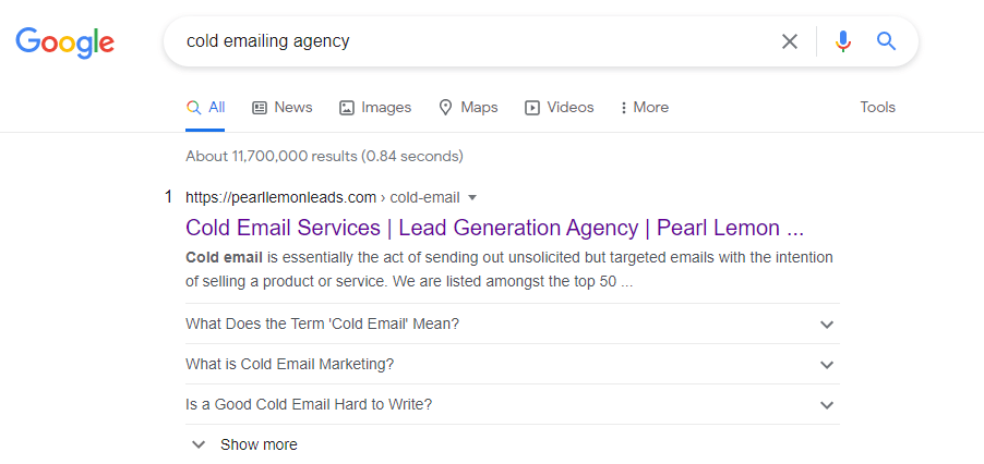 cold emailing agency