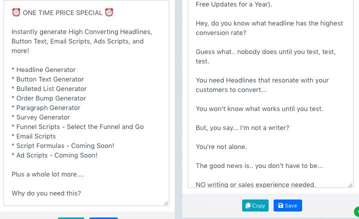 Ad scripts