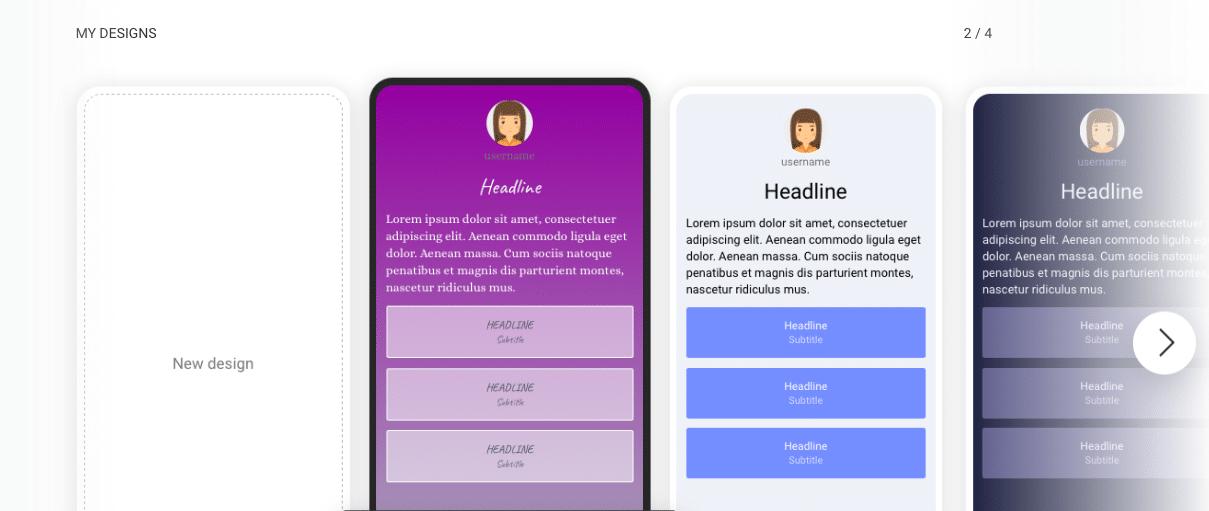 Designs Dashboard