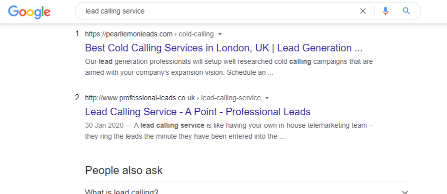 lead calling service
