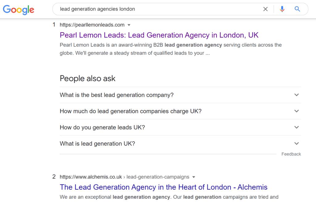 lead gen agencies london