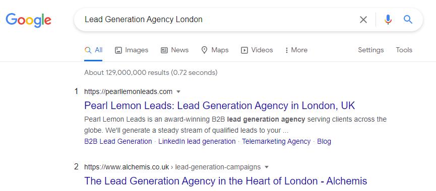 lead gen agency london