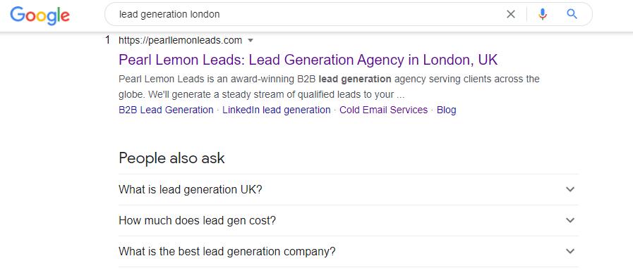 lead gen london