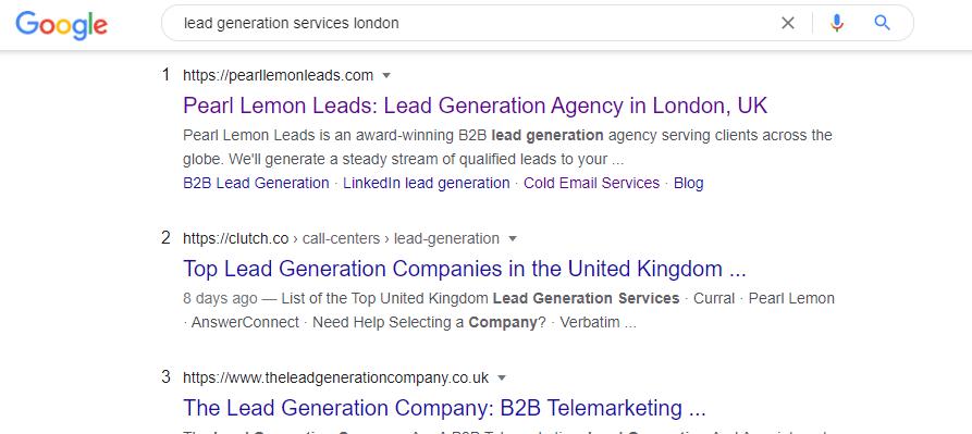 lead gen services london