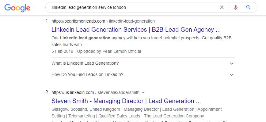 linkedin lead gen service london