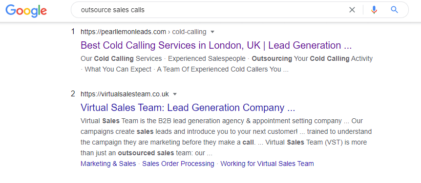 outsource sales calls