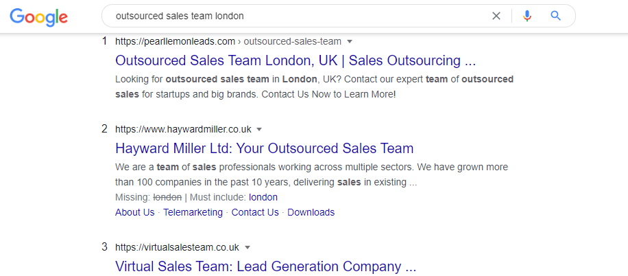 outsourced sales team london
