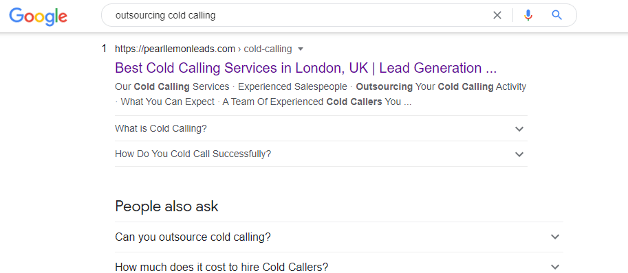 outsourcing cold calling