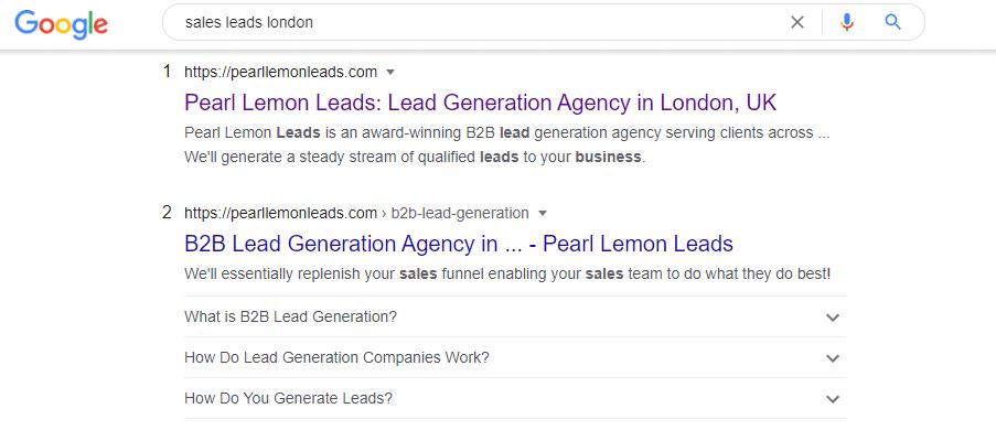 sales leads london