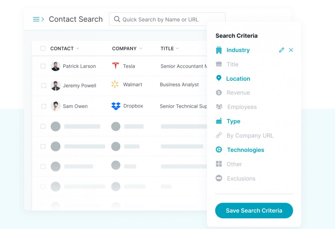 Contact & Company Search